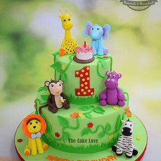 Jungle fun - Cake by The Cake Love by Hiral Desai