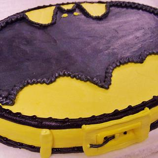 Batman buttercream cake