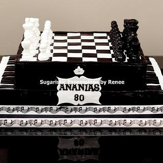 Chess-Piano Cake - Cake by Sugaristic Expressions by Renee