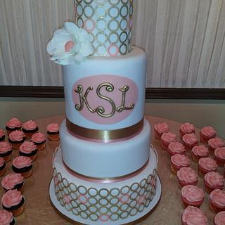 Peach and Gold sweet 16