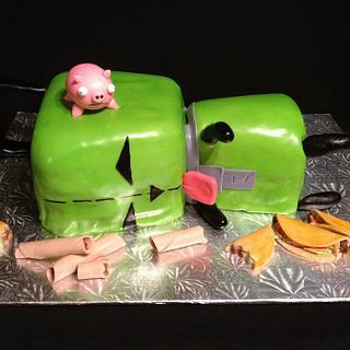 Invader Zim's Gir Cake