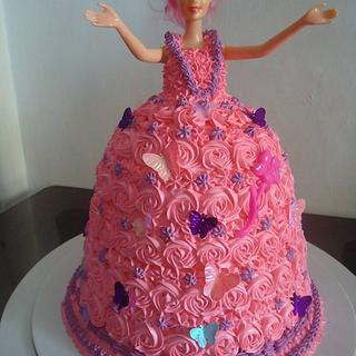 My 2nd Barbie Doll Cake :-)