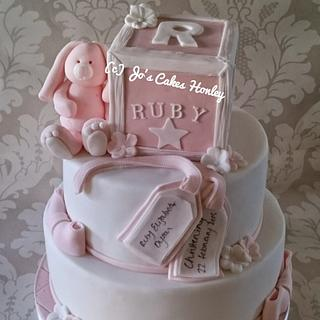 Christening Cake with Building Block
