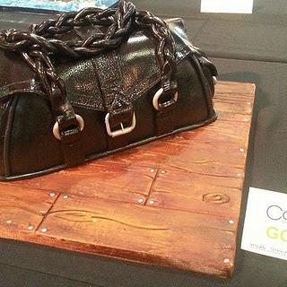 Gold Award Handbag at CI today