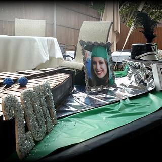 Marimba Graduation Cake