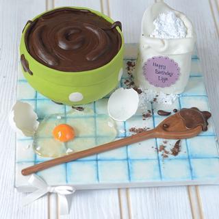 Chocolate cake batter bowl cake!