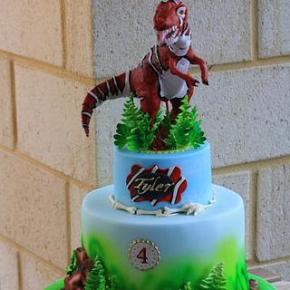 T rex cake  - Cake by Bistra Dean