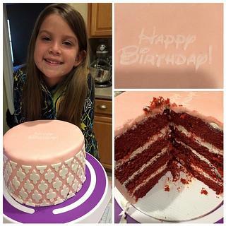 Damask red velvet cake