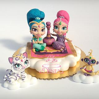 Shimmer and Shine cake topper - Cake by Le Creazioni di Ninfa - Ninfa Tripudio