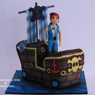 Jack in the Neverland pirates cake