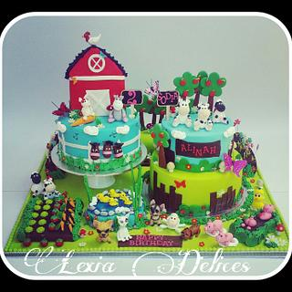 Cartoonize Farm Giant Cake - Cake by Lexia Delices