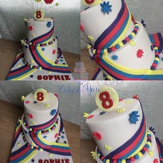Multi colour cake