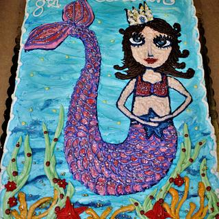 Mermaid cake Buttercream