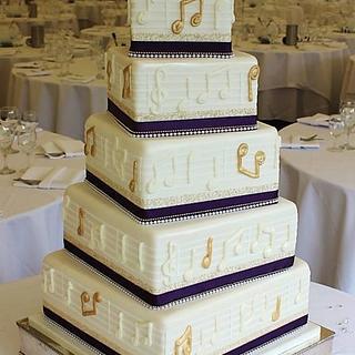 Drummer Wedding Cake