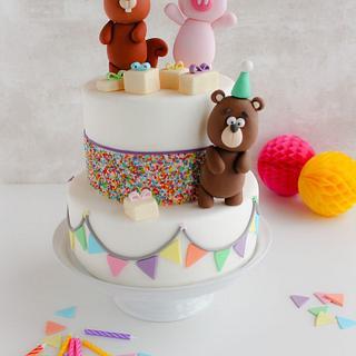 Fiesta Fondant Cake