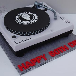 Northern soul turntable cake