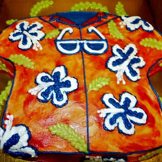 Tropical Hawaiian shirt cake 100% buttercream - Cake by Nancys Fancys Cakes & Catering (Nancy Goolsby)