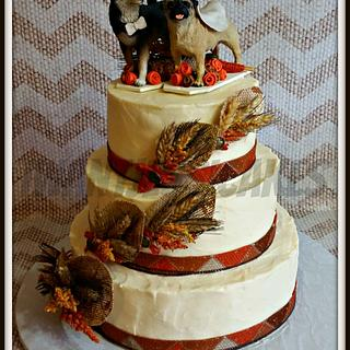 Dog lovers wedding cake