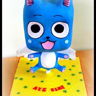 'Happy' Fairy Tail Chibi Cake