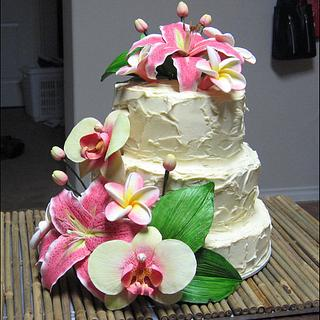 Tropical Flowers Cake