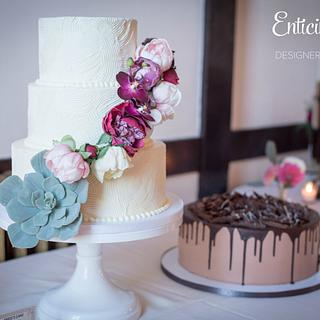 Scalloped Buttercream Wedding Cake - Cake by Enticing Icing
