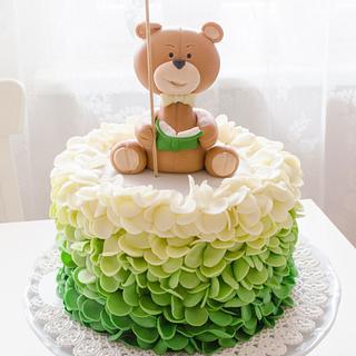 Ombre Ruffle Bday Cake - Cake by Art Bakin'