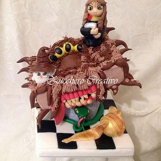 Harry potter cake for a girl