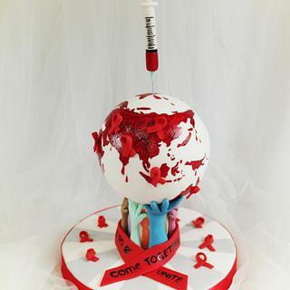 UNSA Team Red Collab Cake