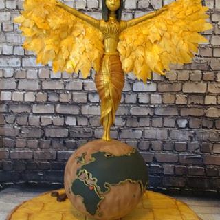 Goddess Hathor gravity-defying cake