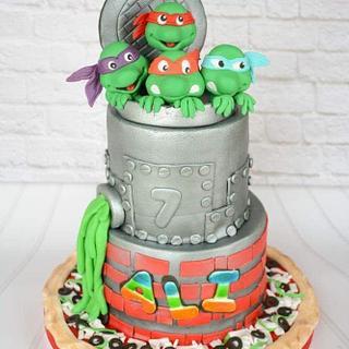 My first Ninja turtles Cake. Hope you liked.  - Cake by BettyCakesEbthal