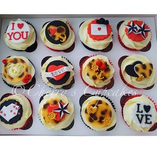 Rockabilly Valentine's Cupcakes - Cake by Cherry's Cupcakes