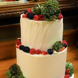 Sugar Succulents BUttercream wedding