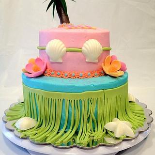 Hula Girl  - Cake by Dawn Henderson