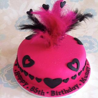 Feather Birthday Cake