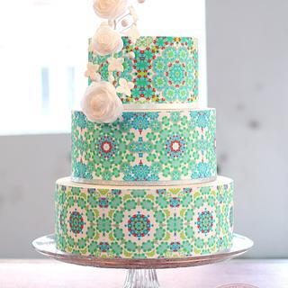 Tiled Pattern Cake