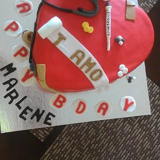 nurse Bday cake - Cake by Your Dreaming Cake