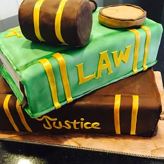 Judge retirement cake