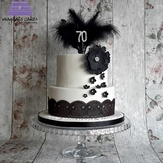 Black and white cake for a classy lady :)
