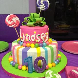 Lollypop Birthday Cake - Cake by Tonya