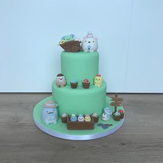 Sumikko gurashi cake