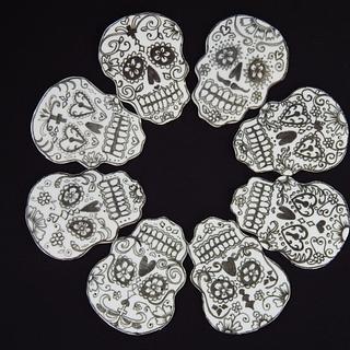 2D sugar skulls detail