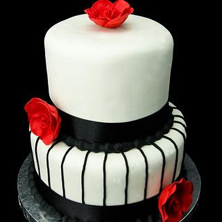50's Wedding Cake