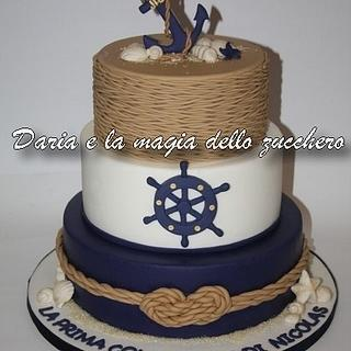 Nautical communion cake