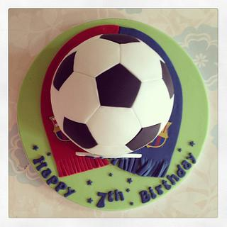 Football Barcelona Cake