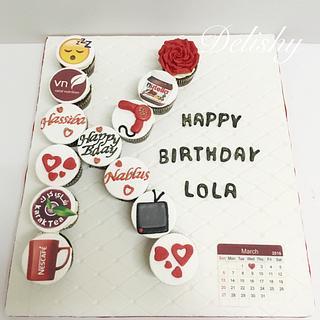 Trendy cupcakes arranging  - Cake by Zahraa
