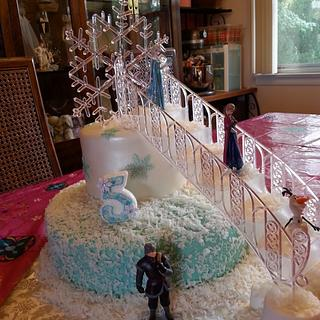 Let it go, Let it Snow! Frozen cake