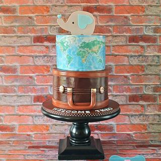 World Travel  - Cake by Nichole Stiglich Cake Design