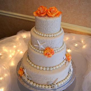 Beach Wedding Cake - Cake by Sylvia Cake