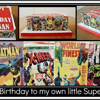 My lil super heroes cake