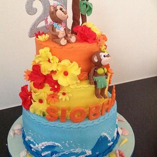 Hawaiian theme - Cake by Suzanne